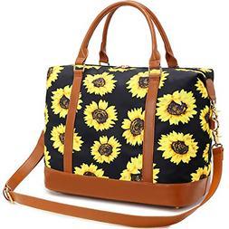 Women Ladies Weekender Carry-on Tote Bag Overnight Duffel in