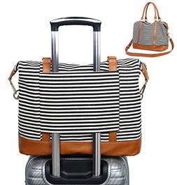 CAMTOP Women Ladies Weekender Travel Bag Canvas Overnight Ca