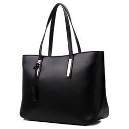 Women Large Shoulder Tote Bag Large Laptop Bag A4 Ladies PU