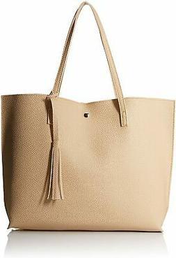 Oct17 Women Large Tote Bag - Tassels Faux Leather Shoulder H
