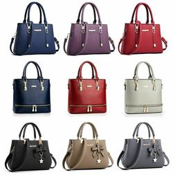 Women Leather Handbag Messenger Shoulder Bag Lady Tote Purse
