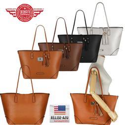 women leather handbag shoulder hobo purse messenger