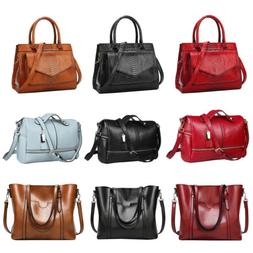 Women Leather Handbag Shoulder Ladies Briefcase Purse Messen