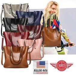 women leather handbag shoulder ladies purse messenger