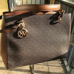 Michael Kors Women Leather Shoulder Tote Bag Handbag Purse M