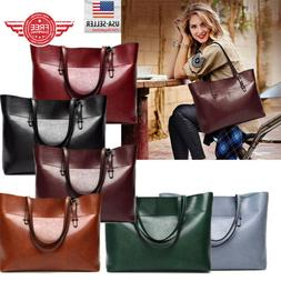 Women Leather Tote Bag Handbag Lady Purse Shoulder Messenger