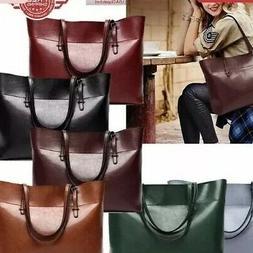 Women Leather Tote Bag Handbag Lady Purse Shoulder Messenger