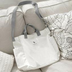 Women Literary Canvas Tote Bags Large Capacity Handbag Ladie
