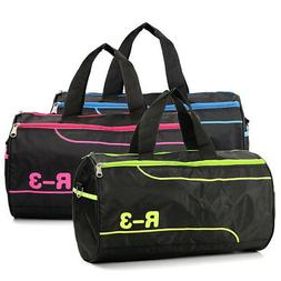 Women Men Nylon Sports Training Travel Tote Shoulder Gym Bag