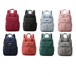 Women Oxford Cloth Backpack with USB Charging Port Tote Bag