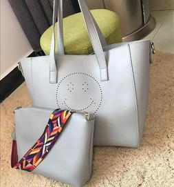 Women PU Leather Handbags Ladies <font><b>Large</b></font> T
