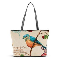 Women's Blue Bird Tapestry Over-The-Shoulder Tote Bag, One S