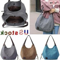 KVKY Women's Brand Design Handbag Canvas Shoulder Bags Large