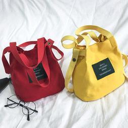Women's Canvas Black Handbag Shoulder Messenger Bag Satchel