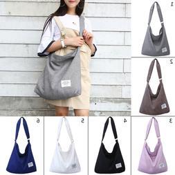 Women's Canvas Handbag Shoulder Messenger Bag Satchel Tote P