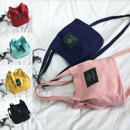 Women's Canvas Handbag Shoulder Messenger Bag Satchel Tote N