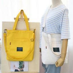 Women's Canvas Handbag Shoulder Messenger Travel Bag Satchel
