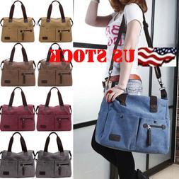 Women's Canvas Hobo Handbag Shoulder Messenger Bag Satchel T