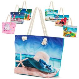 Women's Canvas Tote Shoulder Handbag Travel Shopping Beach P