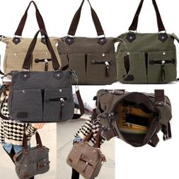 Women's Canvas Travel Handbag Shoulder Messenger Bag Satchel