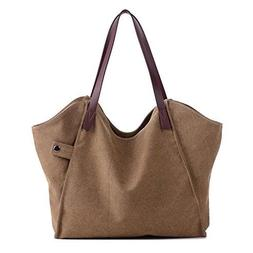 Sanxiner Women's Casual Canvas Tote Bags Shoulder Handbag Tr