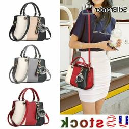 Women's Dual-purpose Leather Designer Contrast Color Shoulde