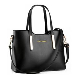 Women's Handbag Leather Messenger Shoulder Tote Bag Purse Cr