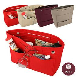 Women's Handbag Organizer Bag Purse Insert Bag Felt MultiPoc