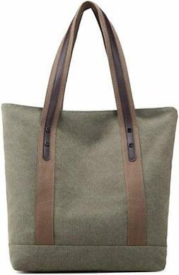Women's Handbags Canvas Shoulder Bags Retro Casual Tote Purs