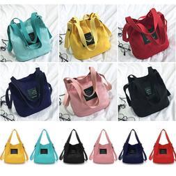 Women's Korean Canvas  Handbag Shoulder Messenger Bag Satche