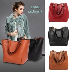 Women's Ladies Handbag Shoulder Bags Tote Purse PU Leather M