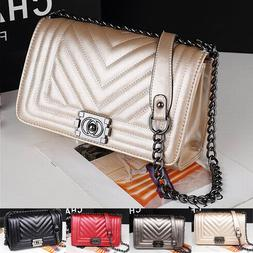 Women's Ladies Quilted chain handbags purses shoulder Clutch