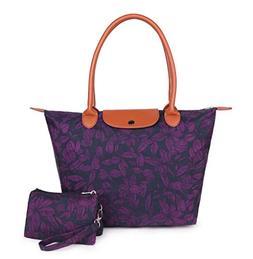 Crest Design Women's Large Handbag Tote Bag Shoulder Bag Pur