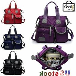 Women's Large Nylon Shoulder Bag Crossbody Waterproof Handba