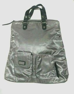 Kenneth Cole Reaction Women's Large Silver Tote Bag 4 Zipped