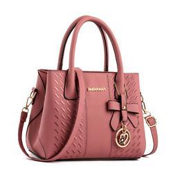 Women's Purses Handbags Ladies PU Leather Handle Satchel Sho