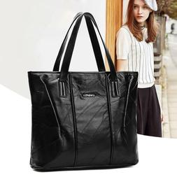 Women's Sheepskin Leather Large Handbags Shoulder Bags Tote