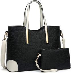 Women's Shoulder Tote Bag with Wallet, Fashionable Satchel P