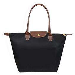 BEKILOLE Women's Stylish Waterproof Tote Bag Nylon Travel Sh