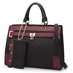 Women's Two Tone Fashion Handbag For Women Top Handle Satche
