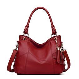 Women's Work Large Handbags Shoulder Ladies Retro Tassel Sin