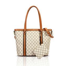 Women Tote Shoulder Bag Large Handle Satchel Handbags PU Lea