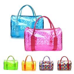 Women Transparent Handbag Shoulder Bag Clear Jelly Purse Clu
