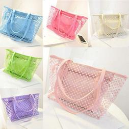 Women Transparent Shoulder Bag Clear Handbag Jelly Purse PVC