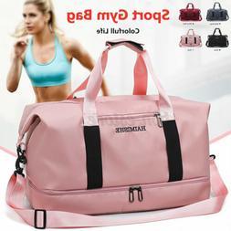 Women Waterproof Sport Gym Shoulder Bag Travel Luggage Duffe
