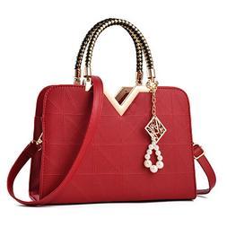 Womens Lady Leather Handbag Shoulder Messenger Satchel Tote