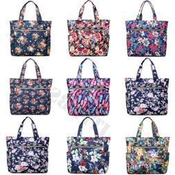 Womens Large Floral Printed Handbag Shoulder Bags Tote Purse