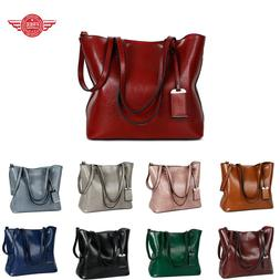 Womens Large Leather Handbag Shoulder Bags Tote Purse Messen