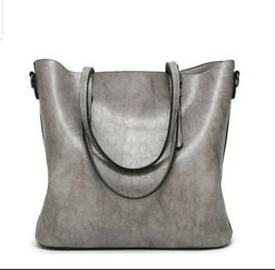 Womens Large Shoulder Bags Fashion 2 Way Handbag Casual Vint