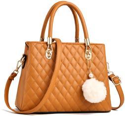 I IHAYNER Womens Leather Handbags Purses Top-handle Totes Sa